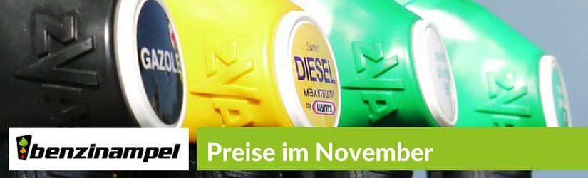 Benzinpreisentwicklung im November 2015