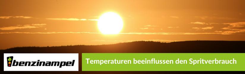 Temperaturen beeinflussen den Spritverbrauch