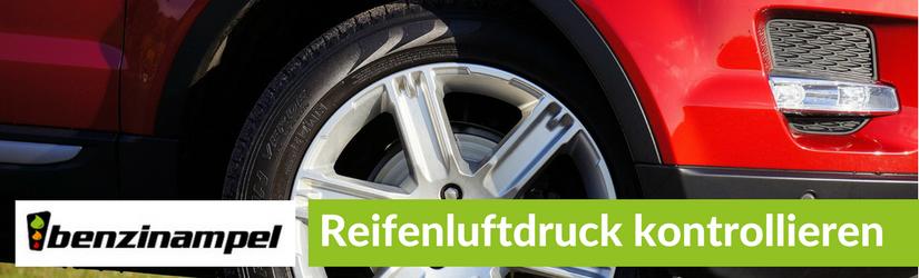 Kontrolle des Reifenluftdrucks