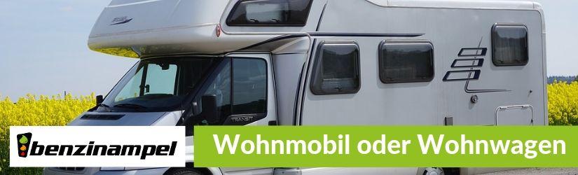 Wohnmobil oder Wohnwagen