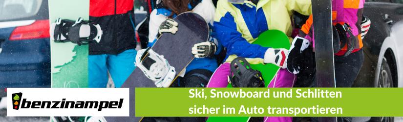 Ski, Snowboard und Schlitten sicher im Auto transportieren